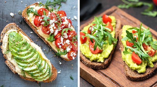 Tostadas con aguacate y tomate